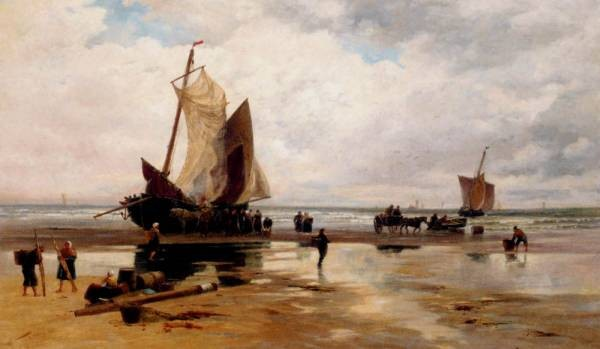 Boats On A Dutch Beach